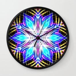 Winter Sinfonity Mandala Kaleidoscope Pattern Art Wall Clock