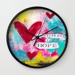 Gratitude is Hope Wall Clock