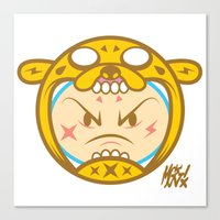 finn and jake Canvas Prints featuring Jake & Finn  by Miguel Manrique