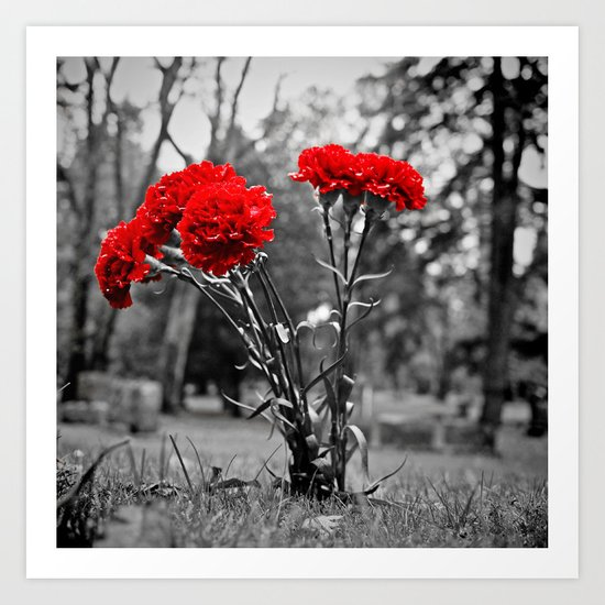 Graveyard decoration Art Print