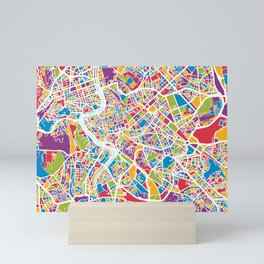 Rome Italy Street Map Mini Art Print