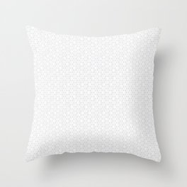 Modern Minimal Hexagon Pattern in Silver Gray and White Throw Pillow
