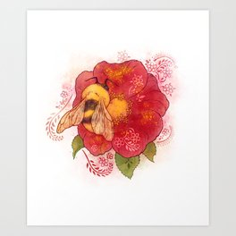 Pollinator Animals- Bumble Bee Art Print