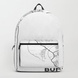 Minimal City Maps - Map Of Buffalo, New York, United States Backpack