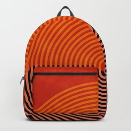 lines and shapes 1 abstract geometric Backpack