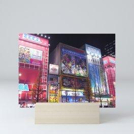 Arcades of Akihabara Mini Art Print