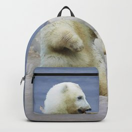Cute Polar Bear Cub & Arctic Ice Backpack