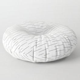 Simple Lines in Cream Floor Pillow