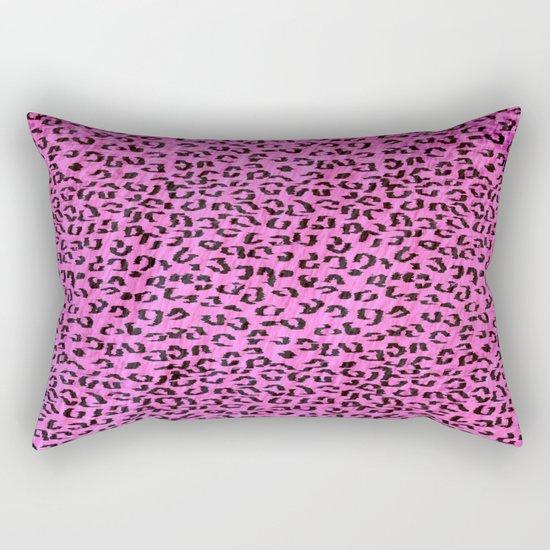 Pink Leopard Spots Rectangular Pillow