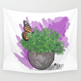 Water Color Butterfly Wall Tapestry