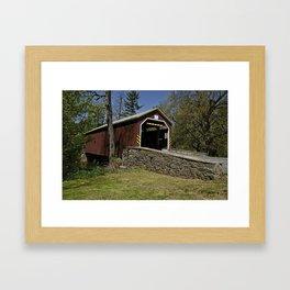 Zooks Mill Covered Bridge Framed Art Print
