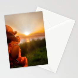 Poppies watching the sun set Stationery Cards