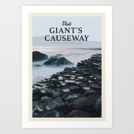 Visit the Giant's Causeway Art Print