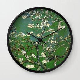 Almond Blossom - Vincent Van Gogh (avocado pastel) Wall Clock