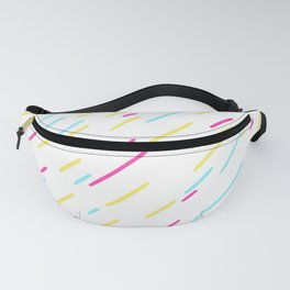 Simple Colorful Abstract Lines Pattern Fanny Pack