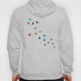 Flying Origami Butterflies Hoody