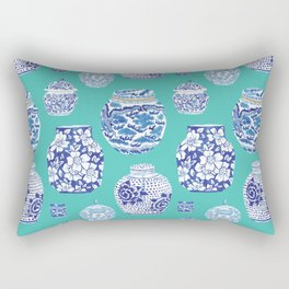 Chinoiserie Ginger Jar Collection No.5 Rectangular Pillow