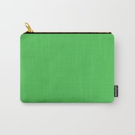 Solid Bright Kelly Green Color Carry-All Pouch