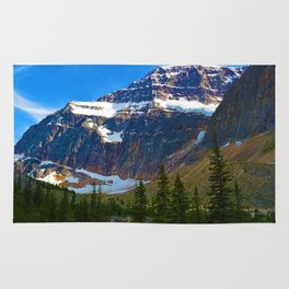 Mt. Edith Cavell in Jasper National Park, Canada Rug