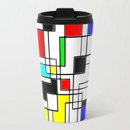 Homage to Piet Mondrian Travel Mug