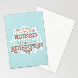 Grishaverse Quote Ruination Blue Orange Stationery Cards