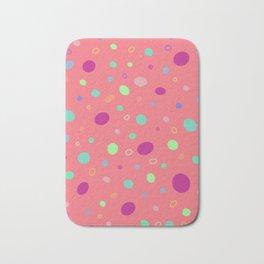 Dots on pink Bath Mat