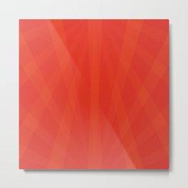 Sunset Orange Cinnabar Metal Print