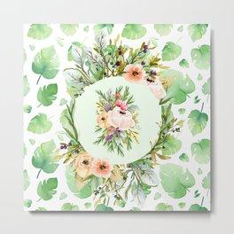 Lovely watercolour floral print Metal Print