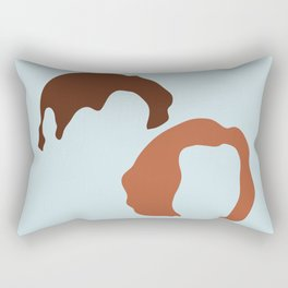 Mulder and Scully, X-Files Rectangular Pillow