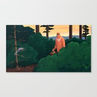 yeti Canvas Prints featuring Yeti by Erin Loughery