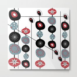 Mid-Century Modern Art Atomic Cocktail Metal Print
