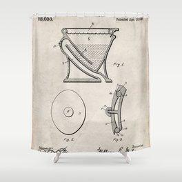 Toilet Patent - Bathroom Art - Antique Shower Curtain