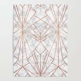 Art Deco Marble & Copper - Large Scale Poster