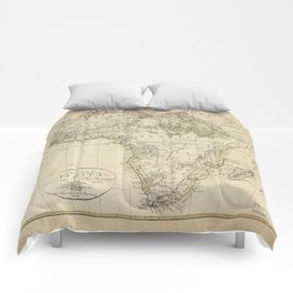 Map of Africa (1804) Comforters