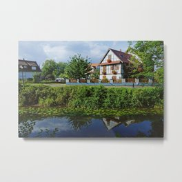 Alsace my love - Shore of the Bruche Canal near Strasbourg Metal Print