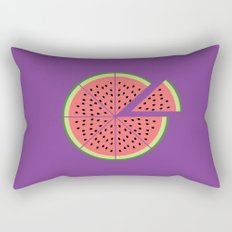 Watermelon Pizza Rectangular Pillow