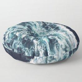 DARK BLUE OCEAN Floor Pillow