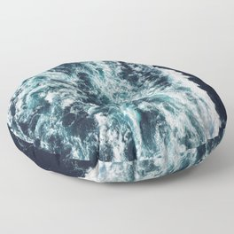 DARK BLUE OCEAN Floor Pillow