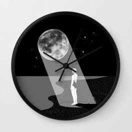 The moon knows me Wall Clock
