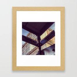 Bourbon - X - Iberville Framed Art Print