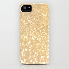 Abstract white gold glamorous girly glitter pattern iPhone Case