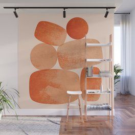 Abstraction_BALANCE_Minimalism_Art_001 Wall Mural