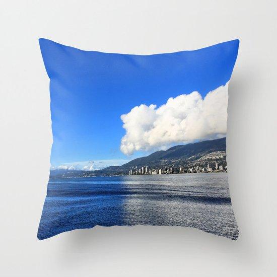 Blue vs. White Throw Pillow