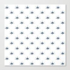 Blå Blomst Canvas Print