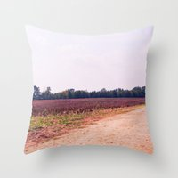 tennessee Throw Pillows featuring TENNESSEE FIELD by Allyson Johnson