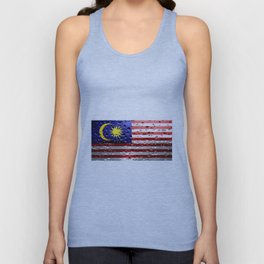 Flag of Malaysia - Raindrops Unisex Tank Top