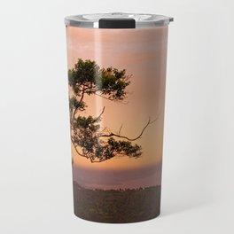 Lone Tree at Dusk Travel Mug