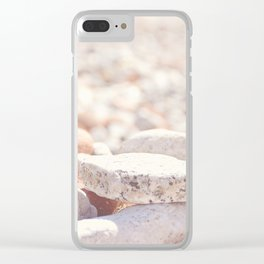 AFE Beach Rocks, Beach Photography Clear iPhone Case