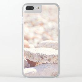 AFE Beach Rocks, Beach Photography Clear iPhone Case