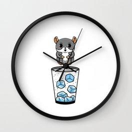 Gin Chilla Chinchilla Jump Cocktail Wall Clock